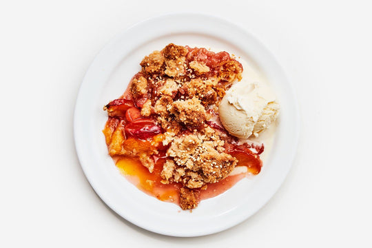Peach and Sesame Crumble