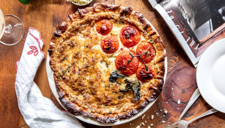 Southern Tomato Pie with Bacon