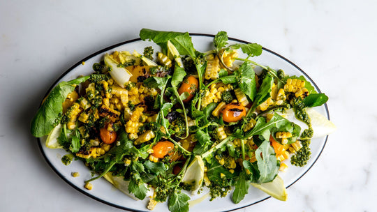 Yellow Pepper and Corn Salad with Turmeric Dressing