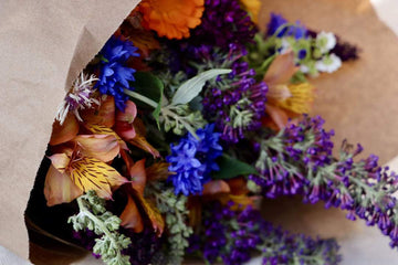 Organic Fall Flower Bouquet from 409 + Co | Farm Box - San Francisco Farmers Market Delivery