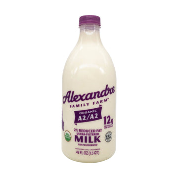 Organic 2% Reduced Fat Milk, 48 oz from Alexandre Family Farm - San Francisco Farmers Market Delivery