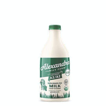 Organic Grassfed Whole Milk, 48 oz from Alexandre Family Farm - San Francisco Farmers Market Delivery