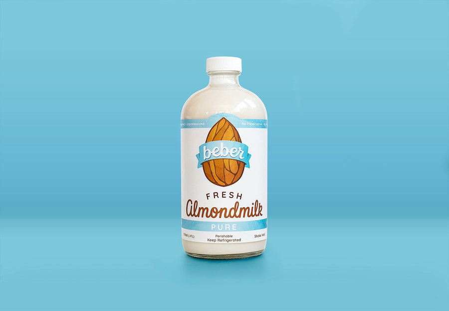 Organic Unsweetened Almondmilk, 32 oz from Beber Almondmilk - San Francisco Farmers Market Delivery