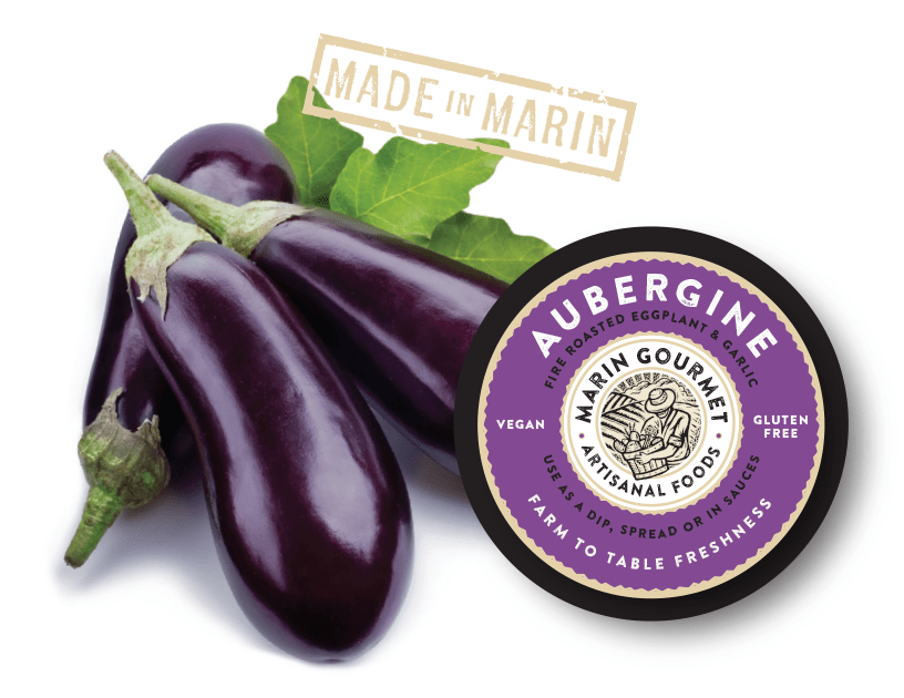 Organic Aubergine from Marin Gourmet Artisanal Foods - San Francisco Farmers Market Delivery