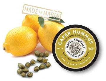 Organic Caper Hummus, 6 oz from Marin Gourmet Artisanal Foods - San Francisco Farmers Market Delivery