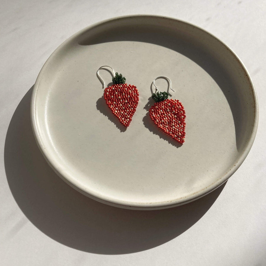 Fruit Salad Earrings | Strawberry
