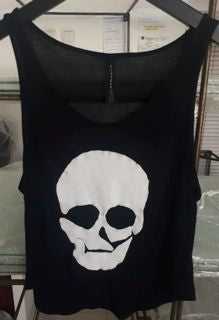 WOMANS - TOP - BLACK - MEDIUM/LARGE - SKULL BRAND
