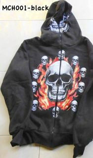 MENS HOODIE - BLACK - LONG SLEEVES