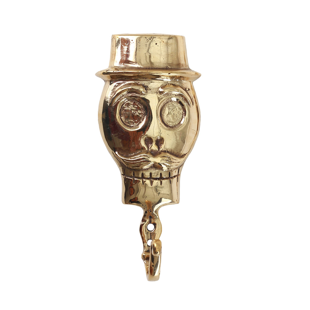 SKULL BRONZE COAT HANGER MALE - GOLD