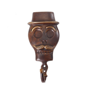 SKULL BRONZE COAT HANGER MALE IN BROWN