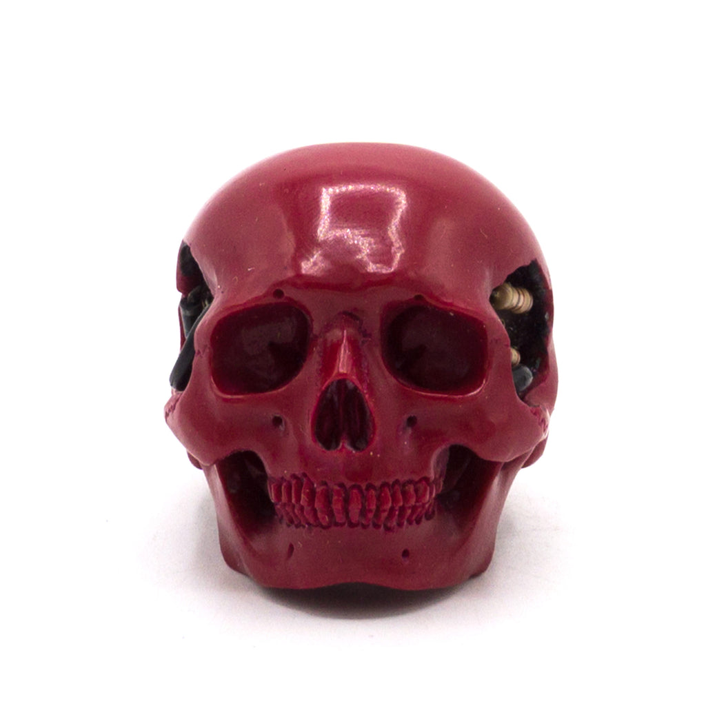 HAND CARVED BIONIC POOL BALL SKULL - WINE #7