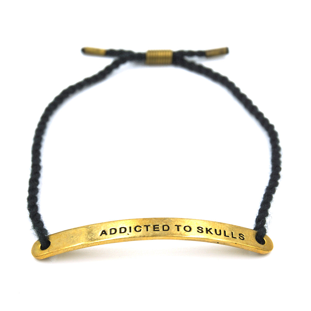 'ADDICTED TO SKULLS' BRACELET - GOLD