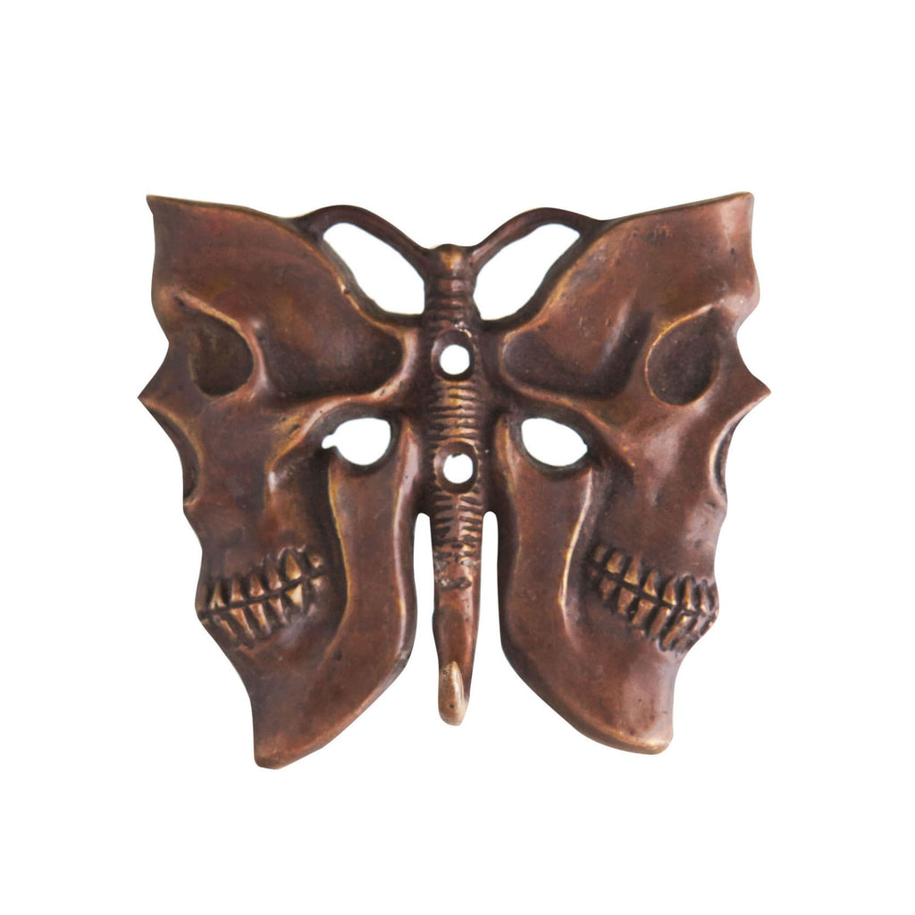 BUTTERFLY BRONZE COAT HANGER - BROWN