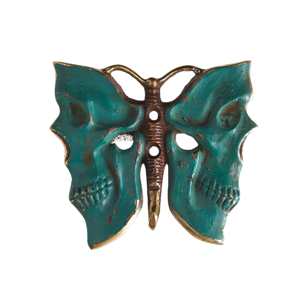 BUTTERFLY BRONZE COAT HANGER - GREEN