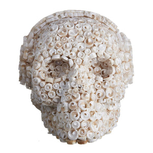CURLY SHELL MOSAIC SKULL - LARGE - 'DJ CURLY'
