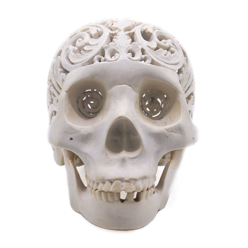 SKULL-RESIN-LARGESKULL-HANDCARVED-DECOR-DECORATION-HANDCARVED-SKULL
