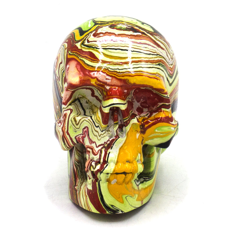 SMALL RESIN SKULL - MIX MARBLE