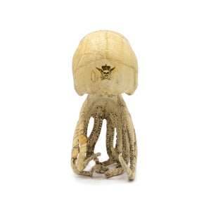 HAND CARVED WOOD OCTOPUS SKULL