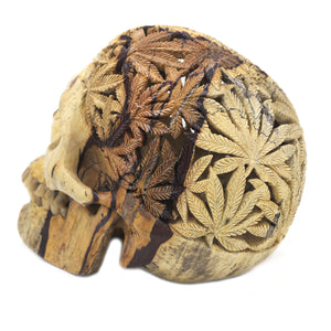 The Potheads hand carved wood Skull by Skullbali collection  in Large Size