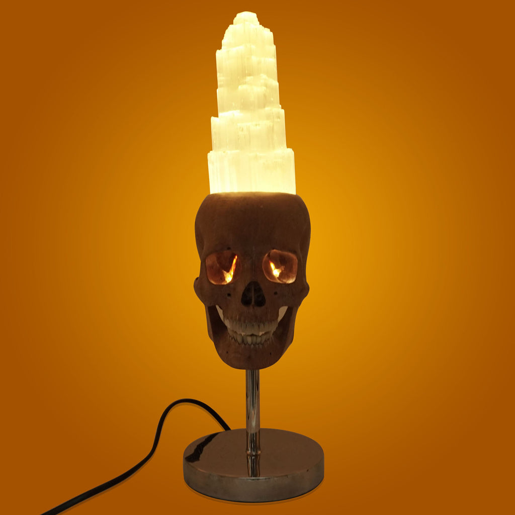 HANDCARVED-WOOD-AND-SELENITE-SKULL-LAMP