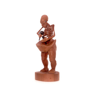 HAND CARVED WOOD SKULLPTURE - SMALL - 'TO THE BONE'