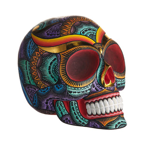 BALI STYLE HAND PAINTED RESIN SKULLS - COLOR - LARGE