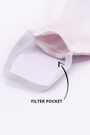 PRE-ORDER - 'IT'S OKAY'  PACK OF 3 - FACE MASK WITH FILTER POCKET - 3 LAYERS
