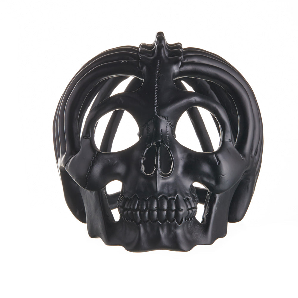 RIBBED SKULL - MATTE BLACK - 'KEVIN