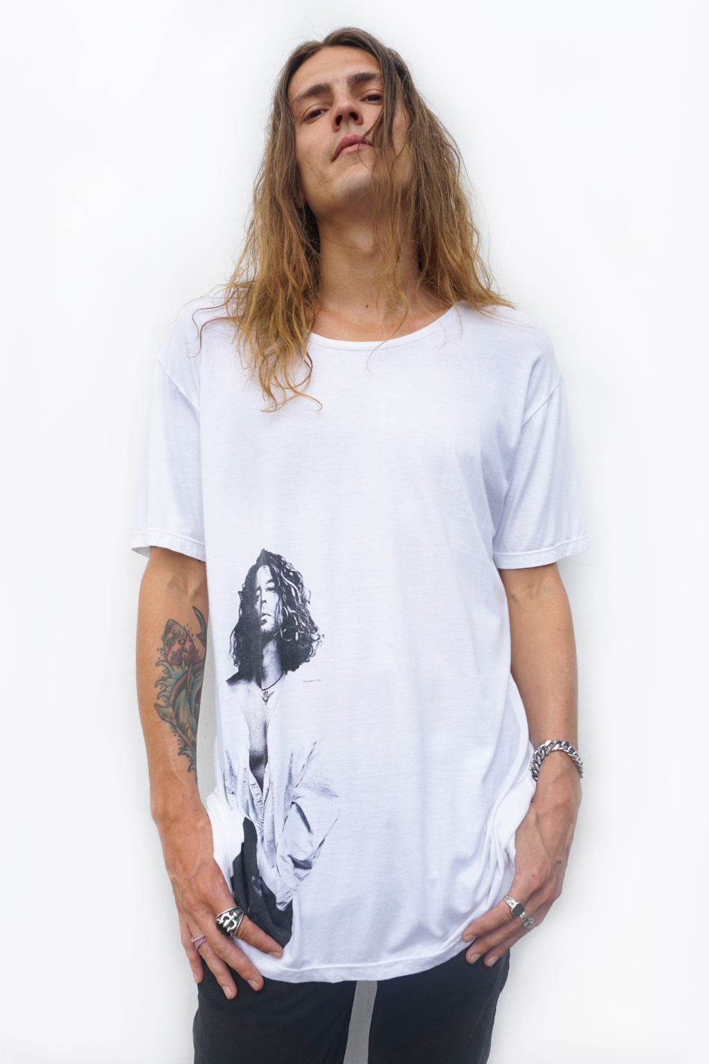 USE CODE 'LOVEHUTCH' TO SAVE 20% OFF - PRE-ORDER - 'HUTCH' LONG T-SHIRT - WHITE