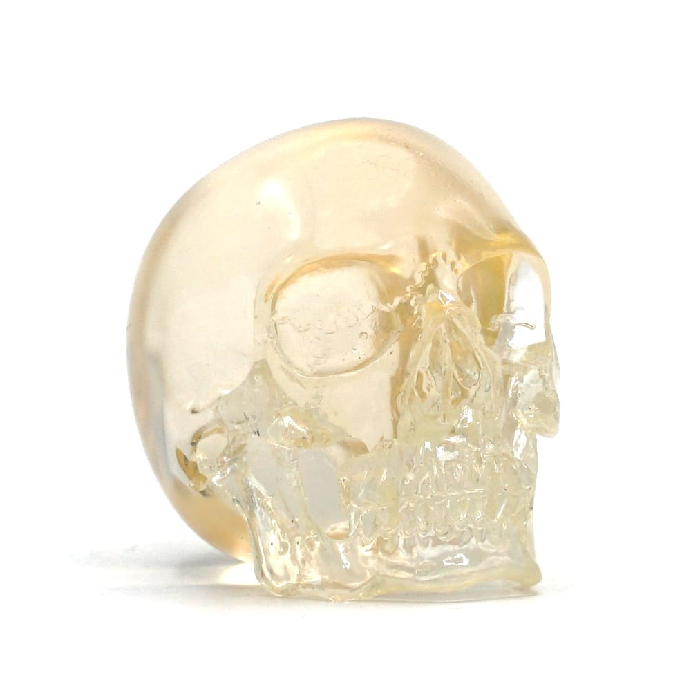 MINI RESIN SKULL - TRANSPARENT CLEAR