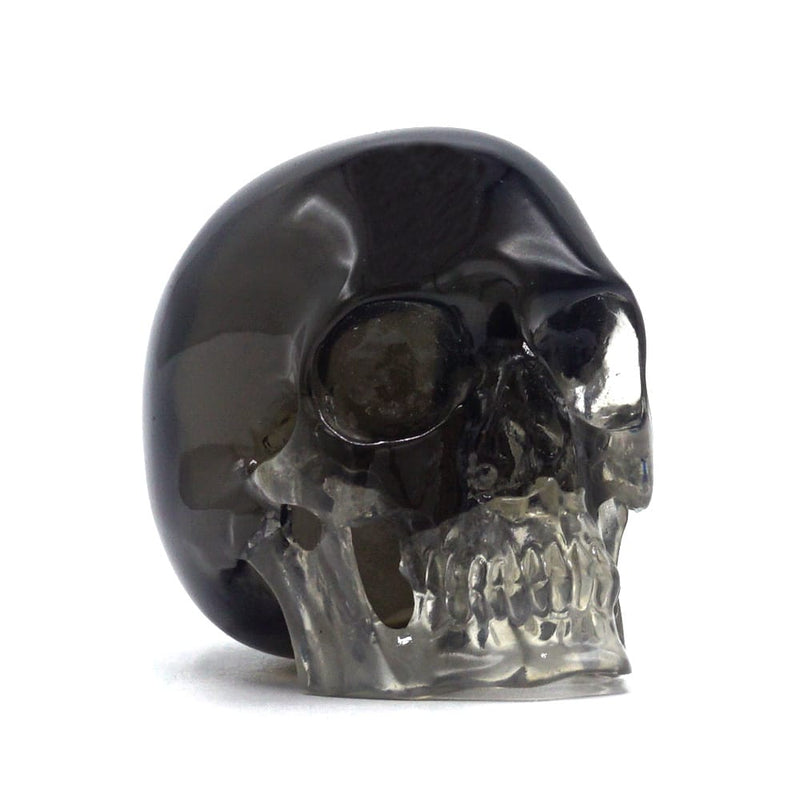 MINI RESIN SKULL - TRANSPARENT BLACK