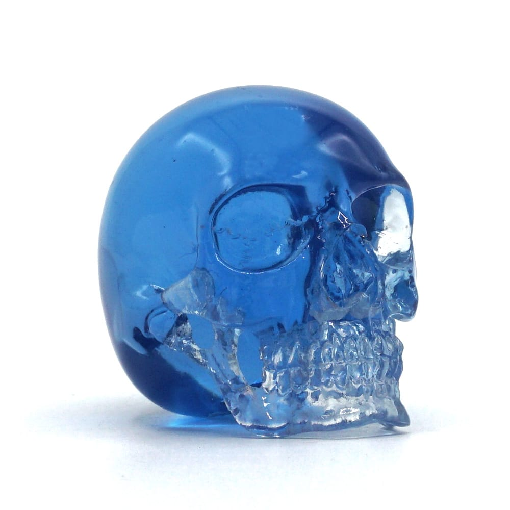 MINI RESIN SKULL - TRANSPARENT BLUE