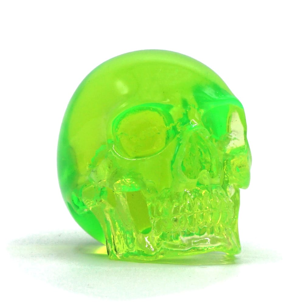 MINI RESIN SKULL - TRANSPARENT GREEN