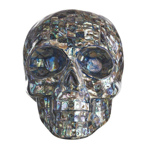 NEW ZEALAND ABALONE SHELL MOSAIC SKULL