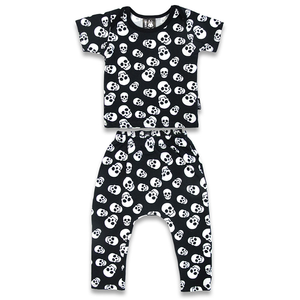 'POLKA SKULLS' LONG PANTS PYJAMA SET