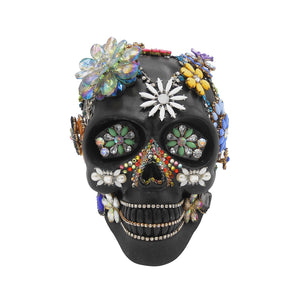 'Bejeweled' - Rhett Hutchence Resin Art Skull