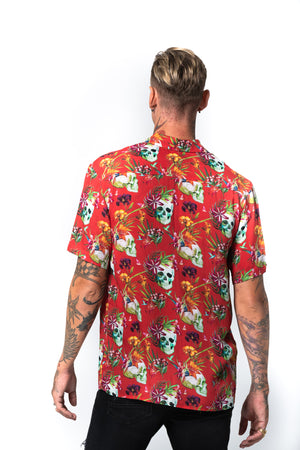 'KAI' RED HAWAIIAN SHIRT