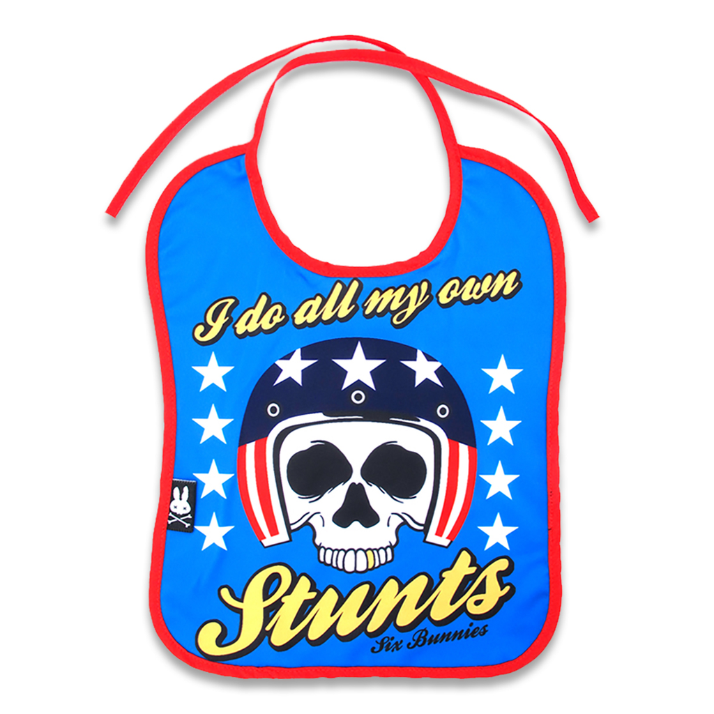 'MY OWN STUNTS' BIB