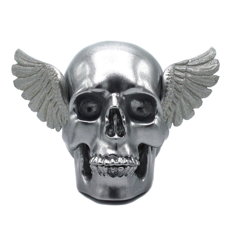 WINGED SKULL - SILVER/SILVER