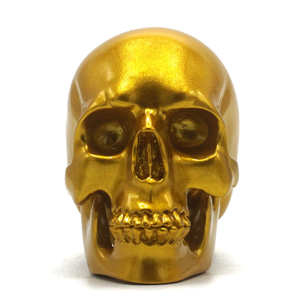 SMALL RESIN SKULL - GOLD