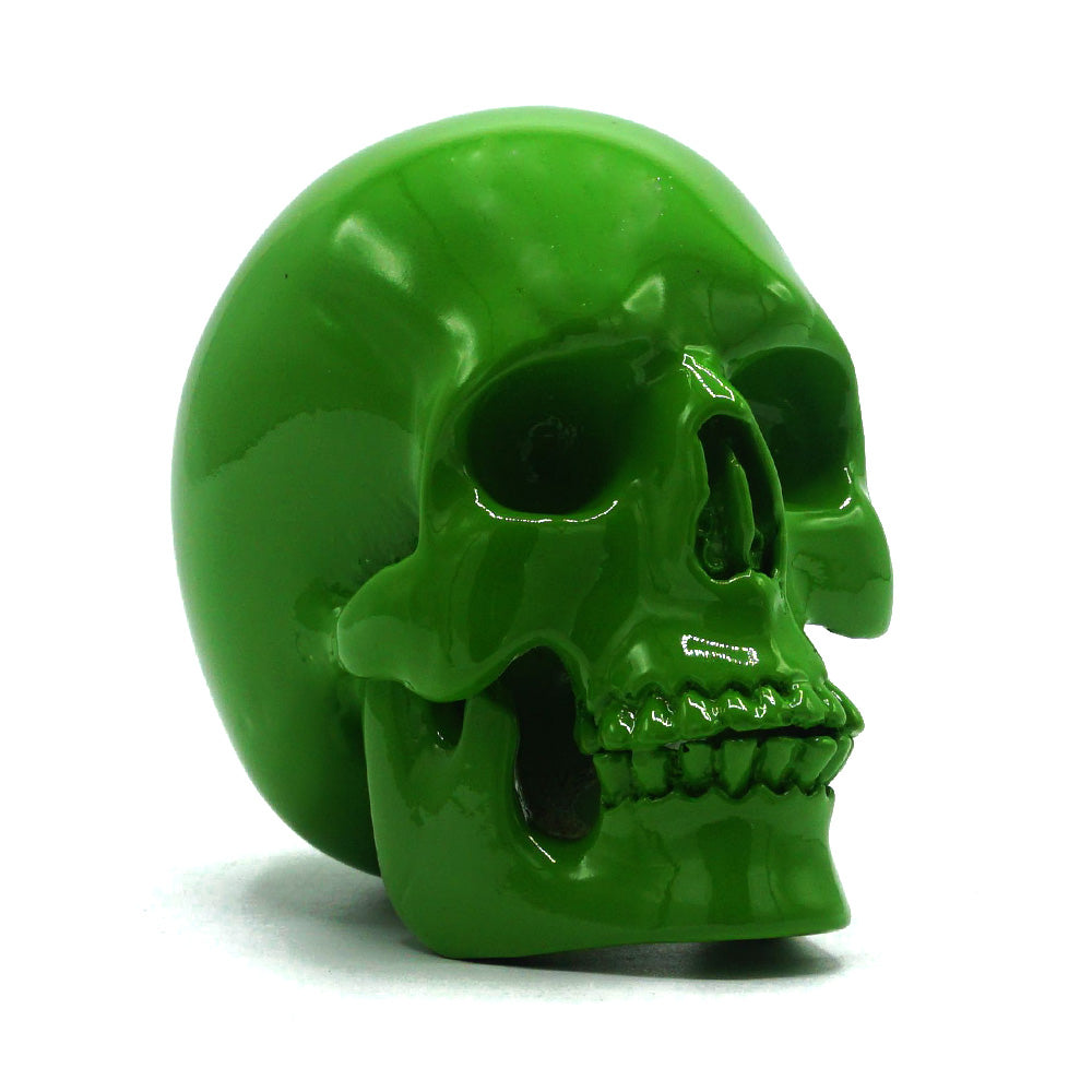 SMALL RESIN SKULL - GREEN