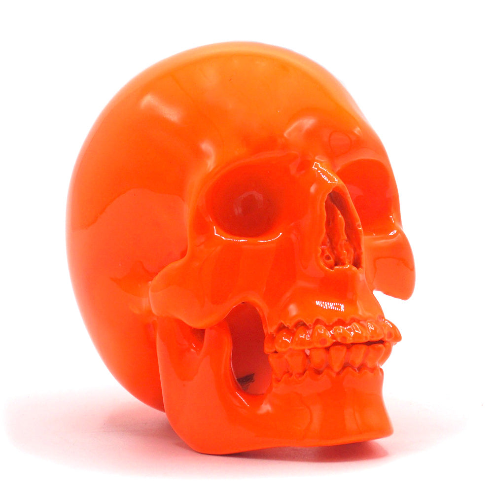 SMALL RESIN SKULL - ORANGE