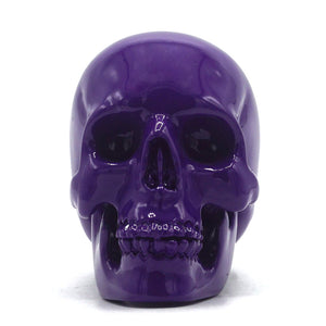 SMALL RESIN SKULL - PURPLE