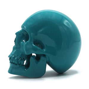 SMALL RESIN SKULL - TURQUOISE