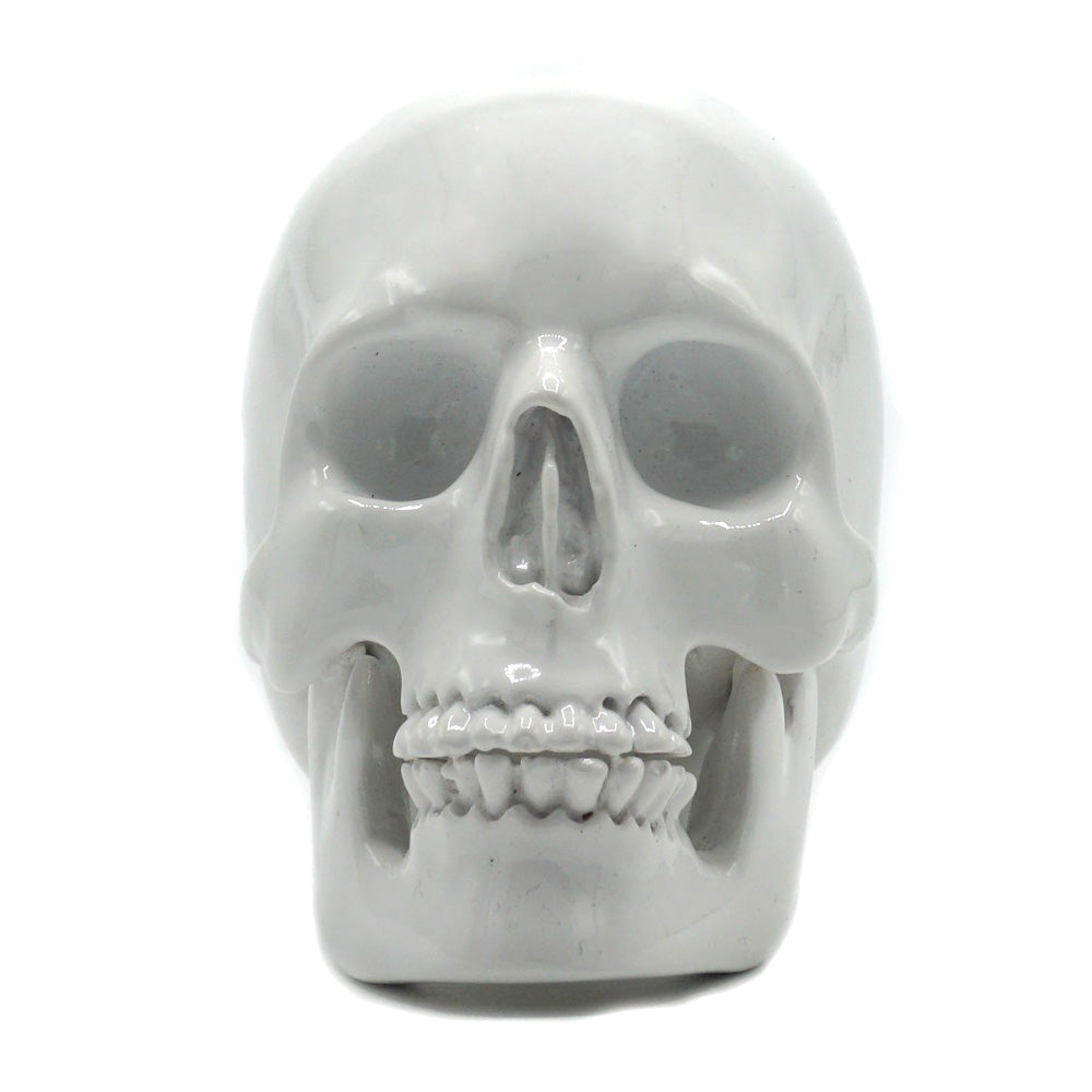 SMALL RESIN SKULL - WHITE