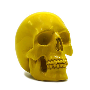 SMALL RESIN SKULL - YELLOW