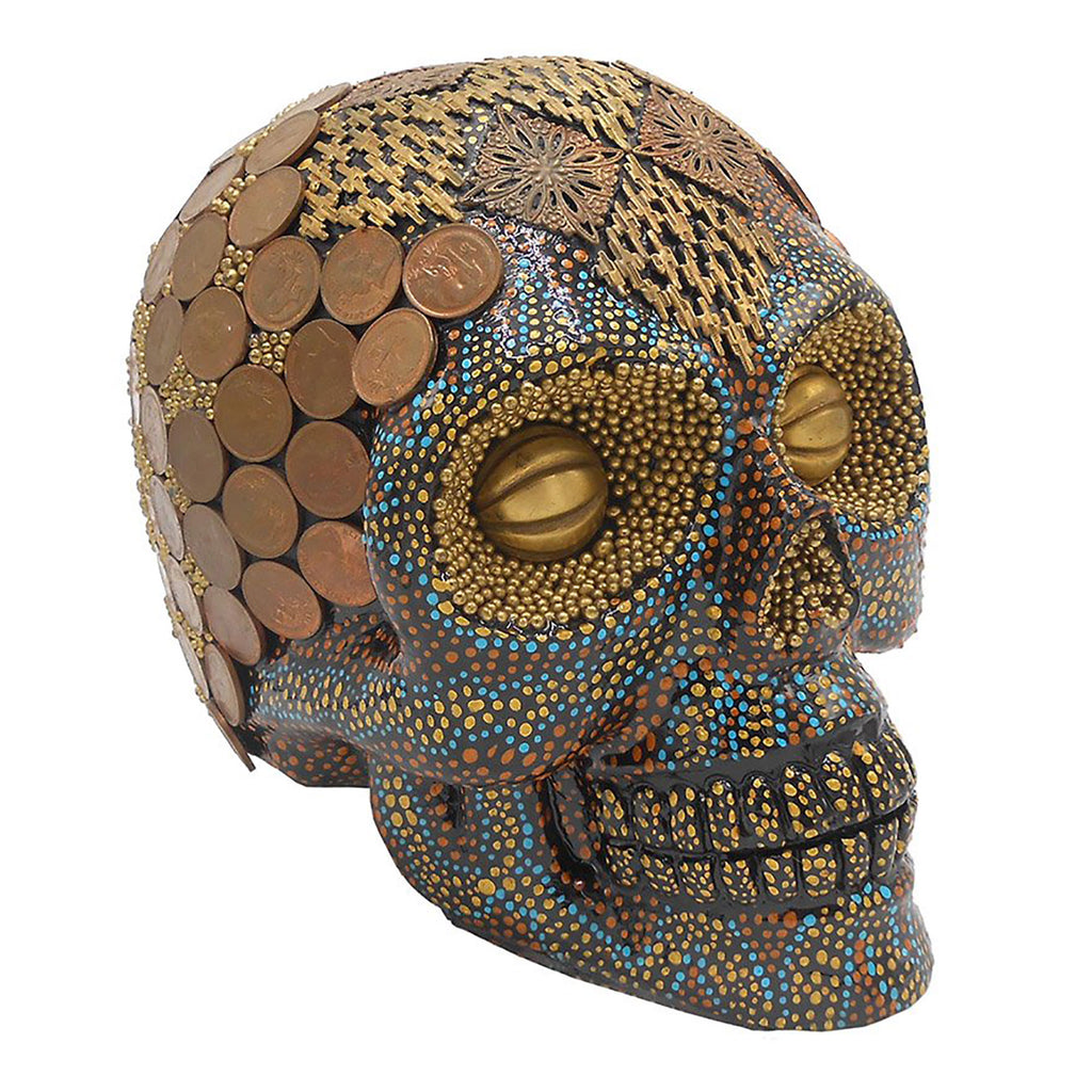 'CENTSLESS' - TODD RUDD RESIN ART SKULL