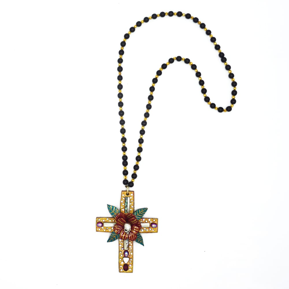VINTAGE SKULL CROSS NECKLACE - TODD RUDD JEWELLERY