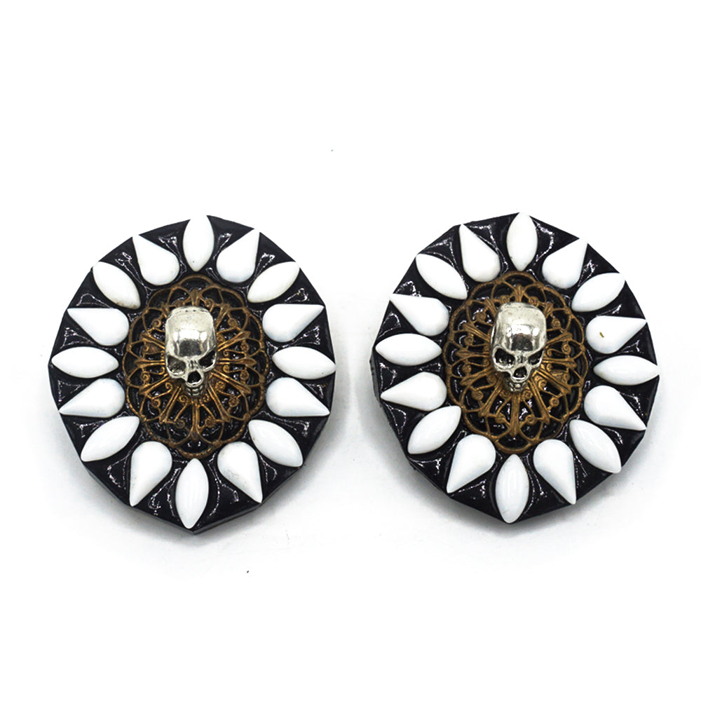 VINTAGE SKULL EARRINGS - TODD RUDD JEWELLERY