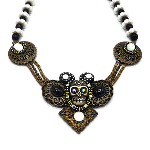 VINTAGE SKULL NECKLACE - TODD RUDD JEWELLERY